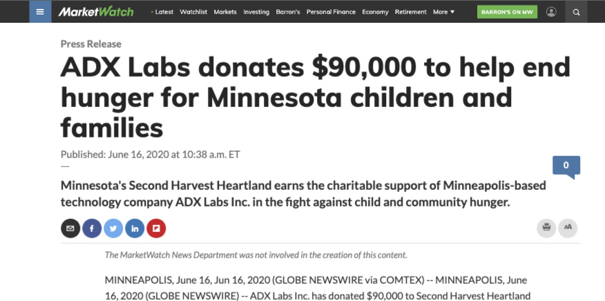 ADX Labs donates $40,000 to looted Minneapolis businesses